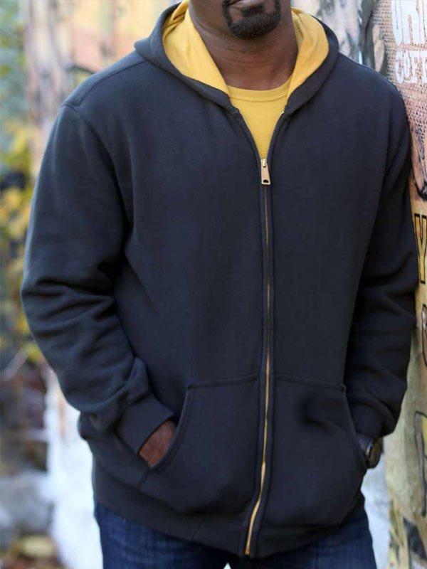 Marvel's Luke Cage Mike Colter Black Zipper Hoodie