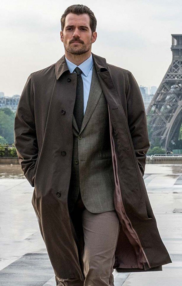 Henry Cavill Mission Impossible 6 Fallout Cotton Trench Coat