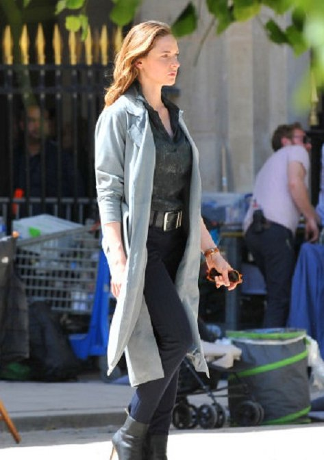 Mission Impossible 6 Rebecca Ferguson Gray Cotton Trench Coat