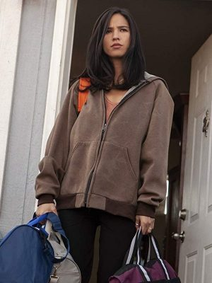Kelsey Asbill Yellowstone Monica Dutton Hooded Bomber Jacket