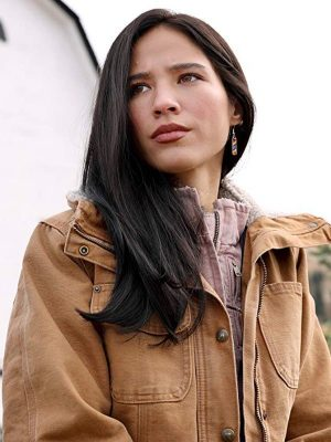 Kelsey Asbille Yellowstone Monica Dutton Brown Cotton Jacket