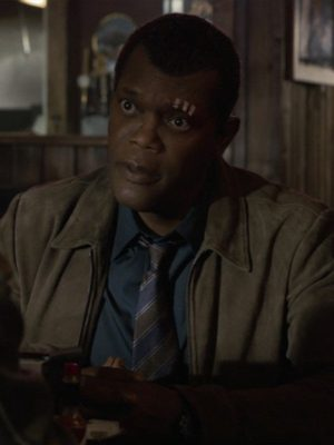 Samuel L. Jackson Captain Marvel Nick Fury Suede Leather Jacket