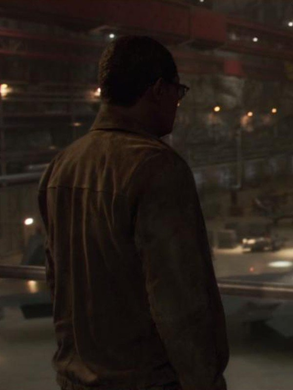 Nick Fury Captain Marvel Samuel L. Jackson Brown Leather Jacket
