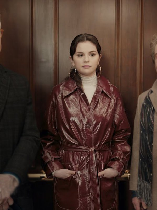 Selena Gomez Only Murders in the Building Leather Coat