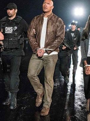 Davis Okoye Rampage 2018 Dwayne Johnson Brown Leather Jacket
