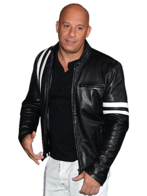 Vin Diesel Bloodshot 2020 Cafe Racer Black Leather Jacket