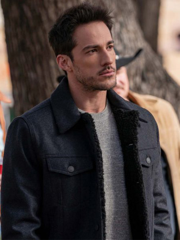 Roswell, New Mexico S03 Michael Trevino Shearling Black Jacket