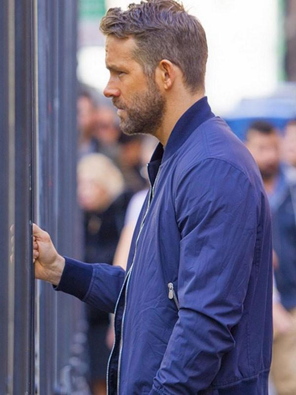 Ryan Reynolds 6 Underground 2019 Blue Cotton Jacket