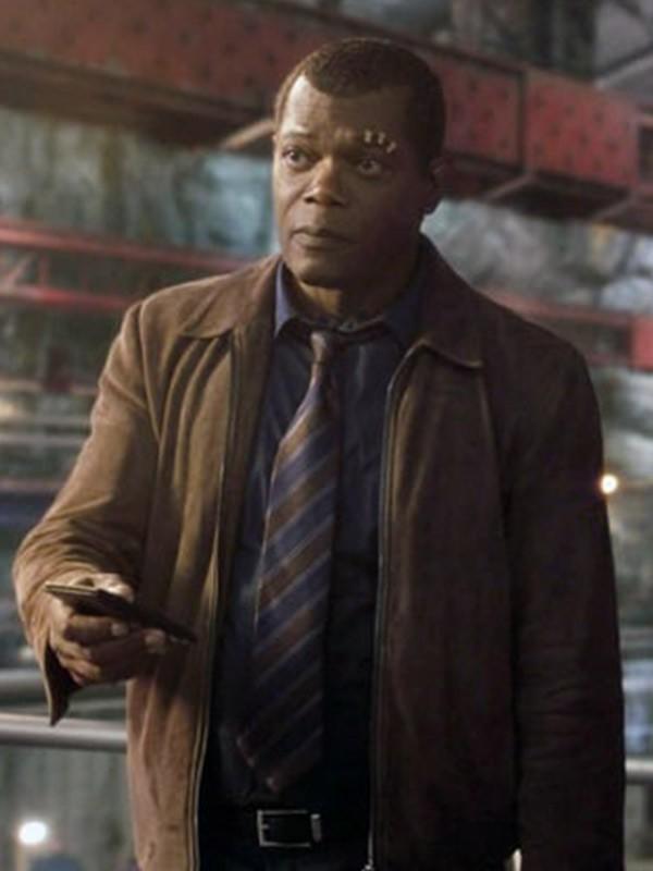 Nick Fury Captain Marvel Samuel L. Jackson Leather Jacket