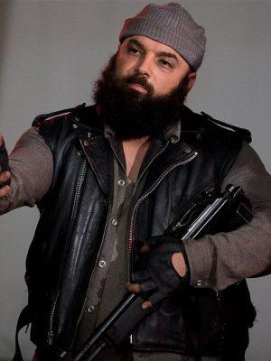 Carlos Aviles The Walking Dead Savior Guard Leather Vest