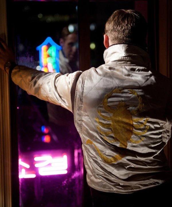 Movie Actor Ryan Gosling Scorpion Drive Polyester Bomber Jacket