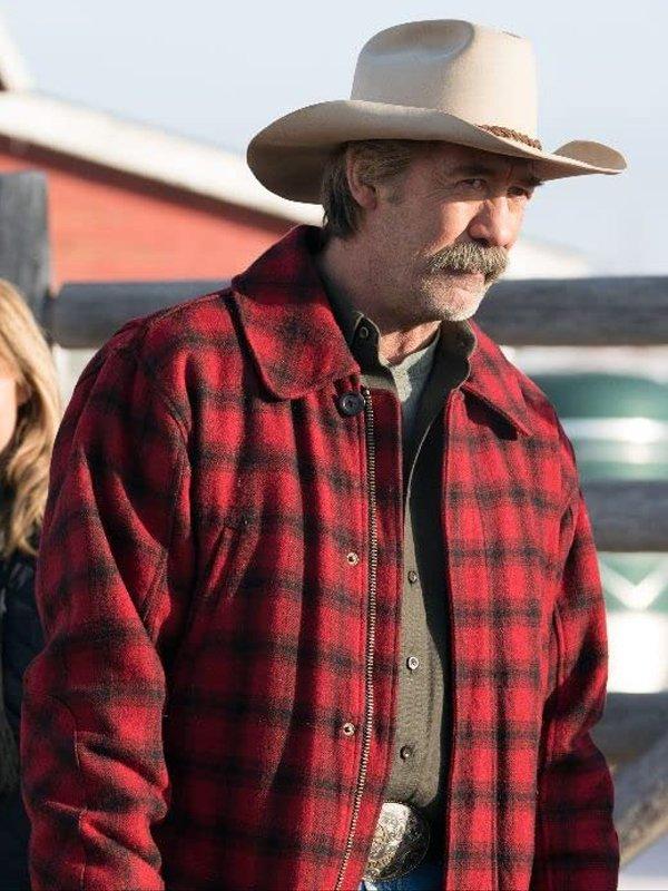 Jack Bartlett Heartland Shaun Johnston Red Plaid Flannel Jacket
