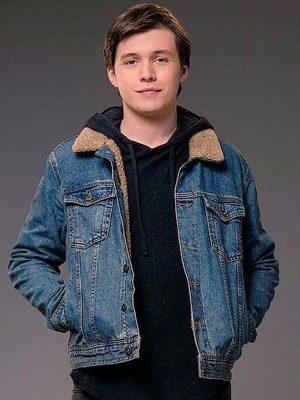 Nick Robinson Love Simon Denim Shearling Jacket