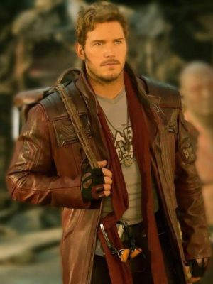 Chris Pratt Guardians of the Galaxy Volume 2 Leather Trench Coat