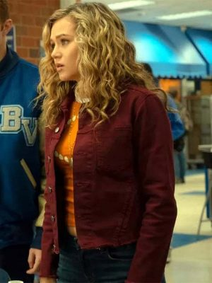 Inspired by: Brec Bassinger External: Cotton Fabric Interior: Viscose Lining Front: Shirt Style Collar, Buttoned Closure Color: Maroon Pockets: Four Outside and One Inside Sleeves: Full-length Sleeves with Buttoned Cuffs
