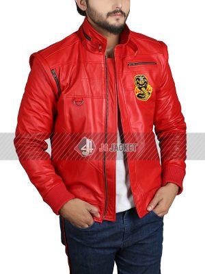 Tv Series Cobra Kai Johnny Lawrence Red Bomber Leather Jacket
