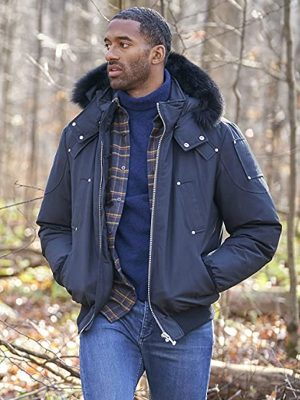 Matt James TV Series The Bachelor Blue Cotton Shearling Hooded Jacket