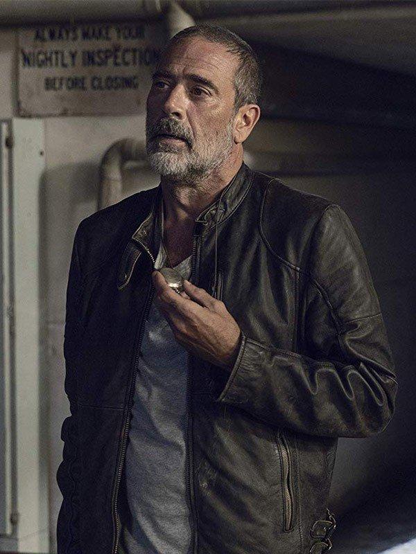 Jeffrey Dean Morgan The Walking Dead Season 09 Negan Leather Jacket
