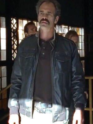 Steven Ogg The Walking Dead Simon Bomber Leather Jacket