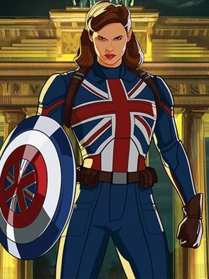 Peggy Carter What If... UK Flag Leather Jacket