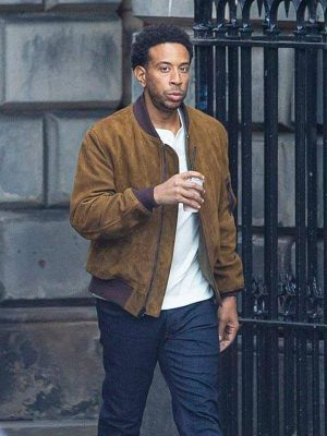Ludacris Fast and Furious 9 Tej Parker Brown Bomber Leather Jacket