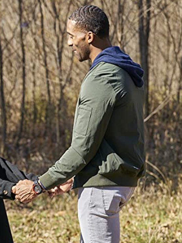 Matt James The Bachelor Season 25 Green Bomber Jacket