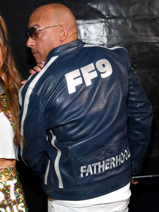 Vin-Diesel-The-Road-To-F9-Concert-Blue-Leather-Jacket