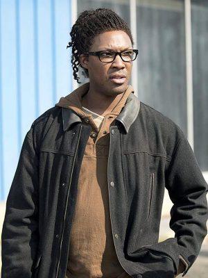 Heath The Walking Dead Corey Hawkings Black Jacket