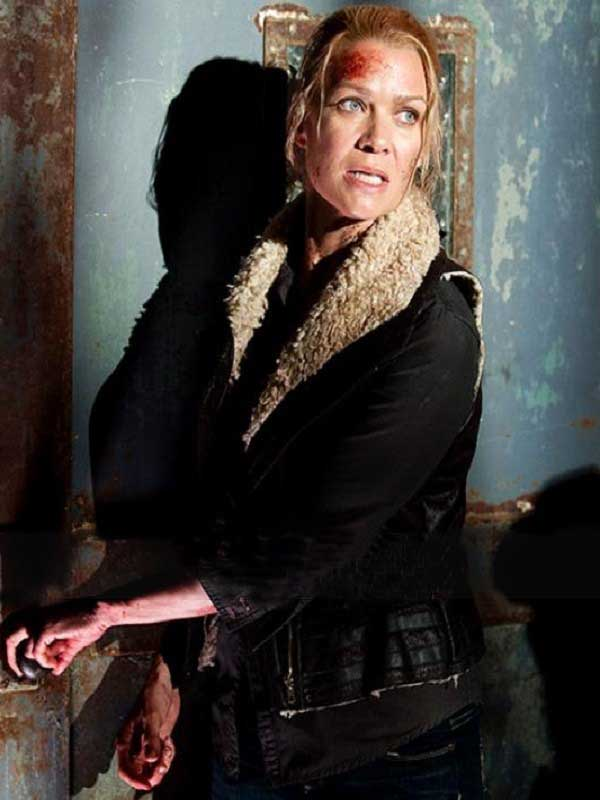 Andrea TV Series The Walking Dead Laurie Holden Shearling Leather Vest