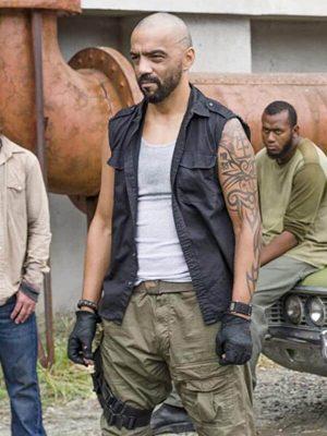 Mike Seal TV Series The Walking Dead Black Cotton Vest