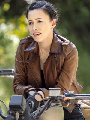 Rosita Espinosa The Walking Dead Season 9 Brown Leather Jacket