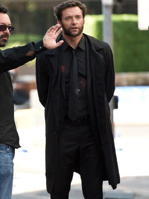 Logan The Wolverine Hugh Jackman Black Trench Coat