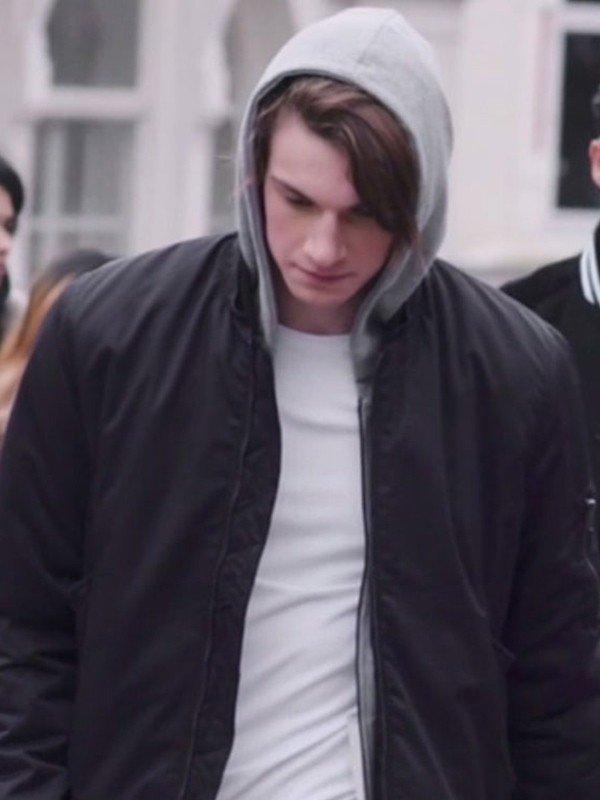 William Magnusson TV Series Skam Thomas Hayes Black Jacket