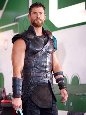Chris Hemsworth Thor:Ragnarok 2017 Thor Brown Leather vest