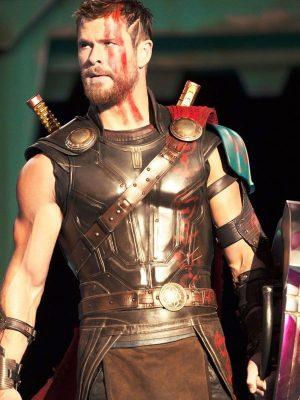 Thor Ragnarok Chris Hemsworth 2017 Brown Leather vest