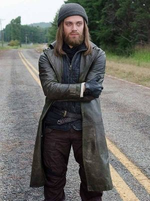 Paul Jesus Rovia The Walking Dead Tom Payne Leather Trench Coat