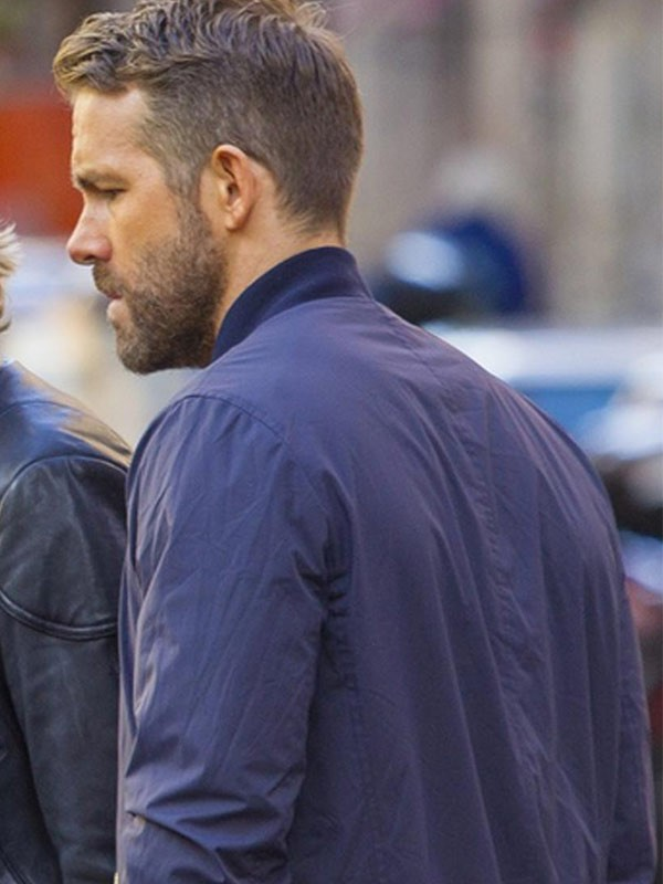 6 Underground Movie 2019 Ryan Reynolds Bomber Blue Cotton Jacket