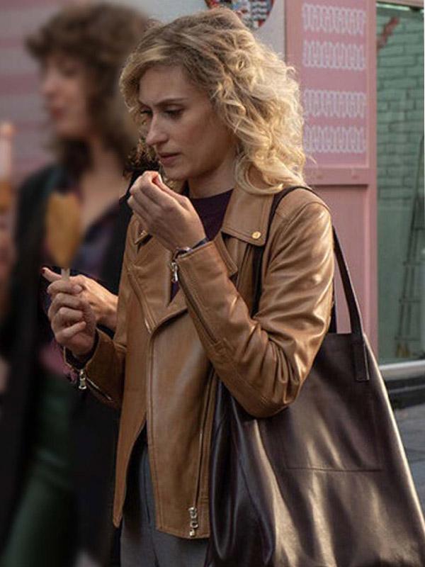 Valeria Season 02 Teresa Riott Biker Leather Jacket