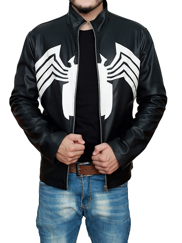 Tom Hardy Venom 2021 Black Leather Jacket