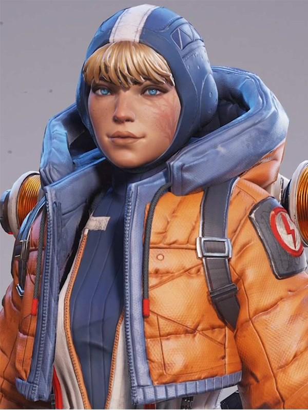 Wattson Video Game Apex Legends Orange Hooded Jacket