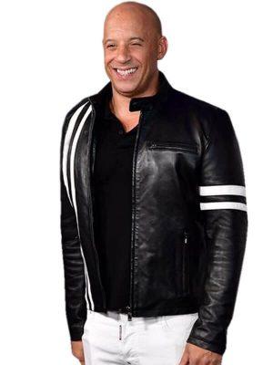 Ray Garrison Bloodshot Movie 2020 Vin Diesel Black Leather Jacket