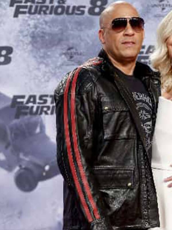 Dominic Toretto Fast and Furious 9 Premiere Vin Diesel Black Leather Jacket