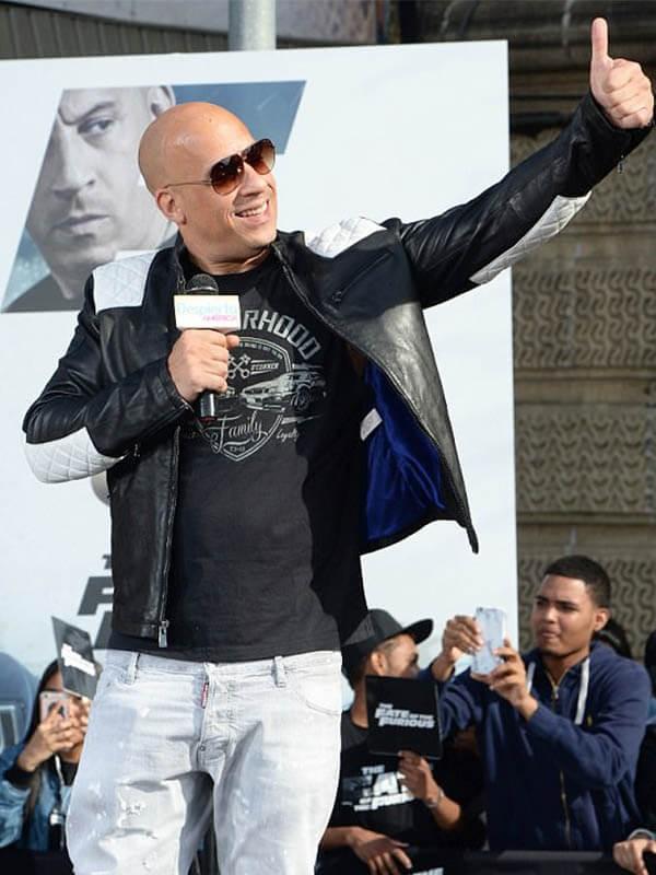 F9 the Fast Saga Vin Diesel Cafe Racer Black Leather Jacket