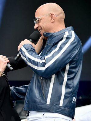 Vin Diesel The Road to F9 Fan Fest Concert Miami Fatherhood Leather Jacket