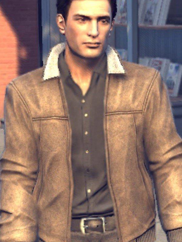 Mafia 2 Vito Scaletta Brown Leather Bomber Jacket