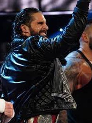 WWE Seth Rollins Quilted Black Leather Jacket