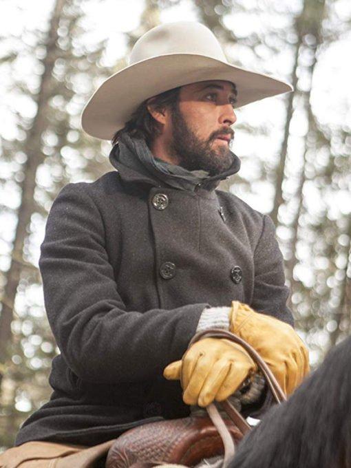 Ryan Bingham TV Series Yellowstone Walker Wool Pea Coat