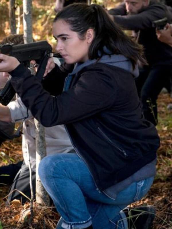 TV Series The Walking Dead Alanna Masterson Black Cotton Bomber Jacket