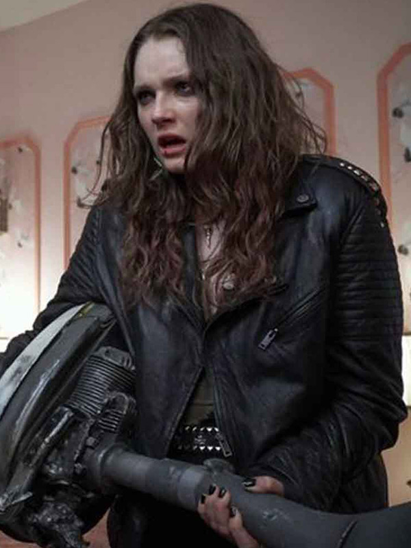 We Summon the Darkness Amy Forsyth Black Leather Jacket