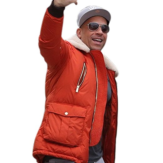 Vin Diesel XXX Return of Xander Cage Red Polyester Puffer Jacket